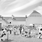 The barnyard below the historic Hilltop Farm barn is pictured during a previous year's Farm Fest.