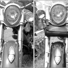 An assembly of details from Indian bikes at previous rallies.