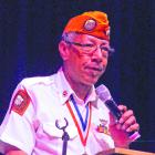 Principal speaker Samuel Beamon tells of combat companions lost.