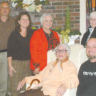 Members of the Suffield Housing Authority are pictured January 10 in the Maple Court recreation room at the little dinner party they gave Vi Carney for her 92nd birthday. Surrounding Vi are, clockwise from upper left, Chairman Jon Carson, Secretary Kim Emmons. Executive Director Deborah Krut, Treasurer Kathy Remington, and maintenance superintendent Patrick O'Sullivan. Mrs. Carney, who has been a member of the Authority for 47 years, is its vice chair.