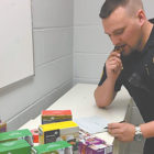 We may have lost an hour of sleep, but we did not let that slow us down. Sgt. Miner is seen here logging items into evidence. Ten boxes were seized with a street value of $50. Help us get these cookies off our street by buying some boxes for yourself. Make sure to support your local Girl Scouts; these young ladies are our future leaders!