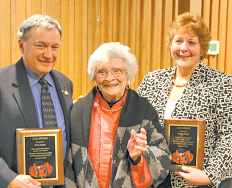 Zak Award Winners Don Miner and Kathy Dunai are pictured with Mary Anne Zak.