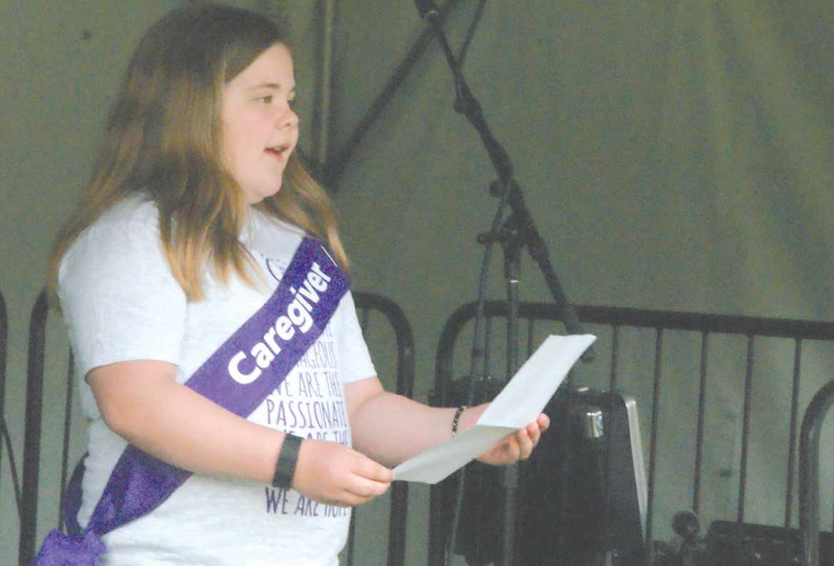 In the opening ceremony of this year's Relay For Life, Kayleigh Thornkill, age 10, speaks fluently about how she helped during her mother's two-year survivorship journey through cancer treatment.