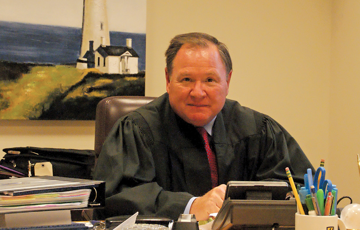 Judge Barry Armata is pictured in his chambers at the Waterbury Courthouse. He was recently appointed to the Connecticut Superior Court.