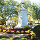 The chrysanthemums an anonymous donor planted at the Suffield Veterans Memorial for Dustin Doyon in September looked particularly beautiful on this autumn afternoon in mid-October.