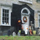The big old house at Boston Neck bridge, which has been called Brookside for over a century, has recently become the home of some assorted, spooky creatures who stepped out on the front stoop for Halloween.