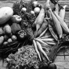 Organic produce from Suffield's Oxen Hill Farm.