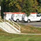 Vans from Main Enterprises, the company that provided and installed the new HVAC systems in the old and new parts of the Kent Memorial Library last year, returned in early October to replace faulty components.