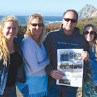 Visiting in Montara, California, in early October, the Life family and a friend bundled up and took the latest Observer to the beach.From the left: Maysie Childs, Lauren, Larry and Lindsay Life.