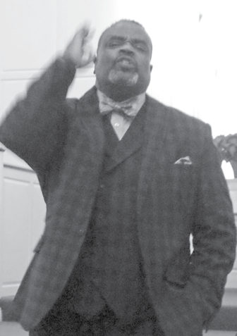 Bishop Victor Rush of the Ebenezer Temple in Hartford, makes another strong point in his Suffield sermon on January 14.