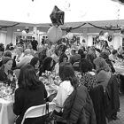 A big crowd of generous supporters enjoy a great buffet dinner, Bingo, and a very successful fund-raising auction in the dining room at Suffield by the River.