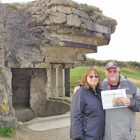 Sandy and Mike Cahill are pictured with the Observer during a November trip to France. Behind them is a World War II German gun emplacement at Pointe du Hoc in Normandy, a key strong point between Utah and Omaha beaches of the Allied landings on June 6, 1944.